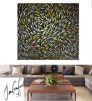 art painting oil Australian original canvas by Jane 100cm x 100cm