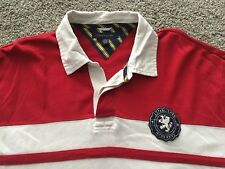 TOMMY HILFIGER Mens Red Rugby Jersey Shirt XXL Sailing