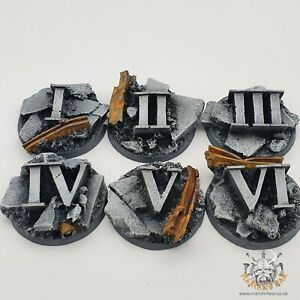 6 pack 40mm resin Urban Rubble objective markers, 40k horus heresy 9th edition