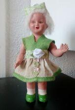 """Petite poupée mécanique 16cm, """"Stella de Gégé"""", vintage, 1956"""