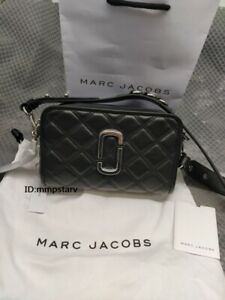 MARC JACOBS The Quilted Softshot 21 Small Crossbody Camera Bag BLACK sales