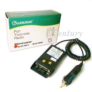 Car Charger Battery Eliminator for Wouxun KG-UV6D KG-UVD1P KG669 KG689 PLUS New