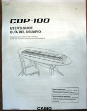 Casio CDP-100 Digital Piano Keyboard Owner's User's Operating Manual Booklet