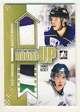 Thomas Hickey 2011-12 ITG Heroes Prospects Hockey Moving Up Jersey Gold Card /10