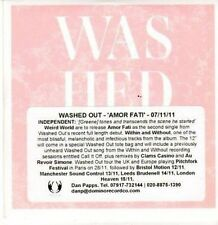 (CE748) Washed Out, Amor Fati - 2011 DJ CD