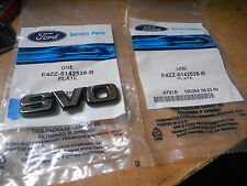 NOS 1984 1985 FORD MUSTANG SVO FRONT FENDER OR TRUNK DECKLID EMBLEMS PAIR E4ZZ