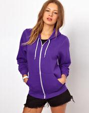 NWT American Apparel Unisex Flex Fleece Hoodie in Purple Size LARGE