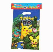 Pokemon Pikachu Kids Happy Birthday Party Favour Bags 10x Loot Bags