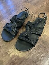 Black Witchery Sandal Shoes - Size EUR 40 (au 9)