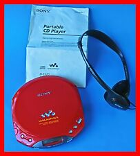 Sony D-E220 with headphones Portable Cd Walkman- Rare Red