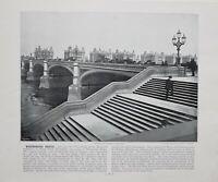1896 London Aufdruck Mit Beschreibende Text Westminster Brücke St. VON THOMAS