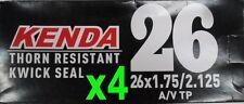 "2x KENDA 26"" Kwick Seal Self Sealing Thornproof Schrader MTB Tube 26x1.75-2.125"""