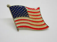 American Flag USA Retro Vintage Enamel Lapel Pin