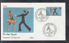 LA 343 ) Fantastic German Cover FDC 1983 -  For sports: Dancing