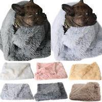 Pet Home Fluffy Fleece Blanket Cat Dog Bed Mattress Kennel Large Soft Crate Mats