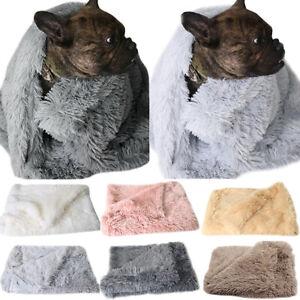 Pet Fluffy Blanket Soft Warm Cat Dog Blanket Comfortable Pet House Bed Mat AU