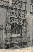 CPA 01000 BOURG Eglise de BROU mausolée de Marguerite de Bourbon Edit FERRAND