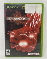 Breakdown (Microsoft Xbox, 2004) Complete Tested Working Namco