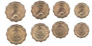 Paraguay - set 4 coins 10 15 25 50 Centimos 1953 aUNC / UNC Lemberg-Zp