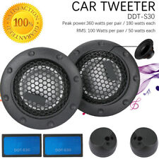 "2x 1"" 360w 25mm Alpine Dome Balanced Car Speakers Tweeters Crossovers DDT-S30"