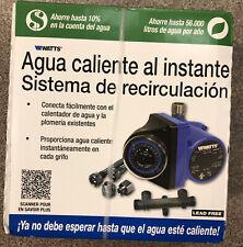 Watts 500899 HRWS Universal Steel Hot Water Heater Recirculating Pump