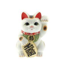 "1x Japanese 12-3/4""(h)  Beckoning Cat-L Tokoname  Maneki Neko #590-020"