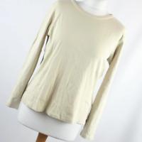 Marks & Spencer Womens Size 16 Beige Plain Cotton Basic Tee