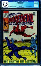 Daredevil #52 CGC 7.5 -- 1969 -- Black Panther cover.  #2062160001