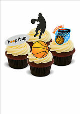 BASKETBALL MIX 12 STAND UP Edible Cake Toppers Standups Birthday Novelty