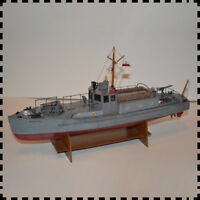 1:50 Scale Polish Kaszub Motorcycle Patrol Boat DIY PAPER Model Kit