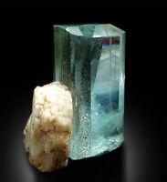 Natural Aquamarine Crystal with Feldspar from Shigar Pakistan - 43 gram , 39*31*
