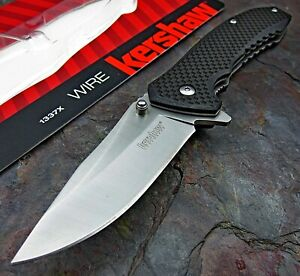 Kershaw Wire Assisted Opening Folding Pocket Knife Carbon Fiber Handle 8Cr13MoV