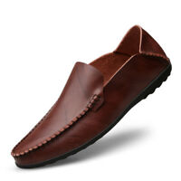 Mens Driving Loafers Flats Leather Casual OxFord Cowhide Moccasins Slip On Shoes