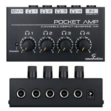SOUNDSATION POCKET AMP mini amplificatore per cuffie a 4 canali preamp noiseless