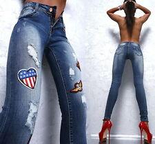 Ripped/frayed Damen-Jeans Hosengröße 40