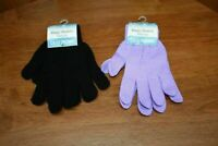 Magic Stretch Gloves 2-Pair One Size Fits Most Unisex Black & Purple