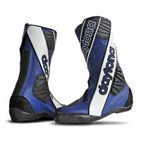 Daytona Outer Security Evo Moto Motorcycle Leather Boots Blue / White / Black