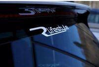 Volkswagen VW RLifestyle sticker - Golf Passat R - White Vinyl Transfer Decal