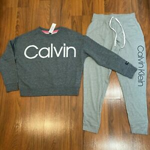 Calvin Klein Performance Women's Sweater Pants 2pc Set Size S Tracksuit New