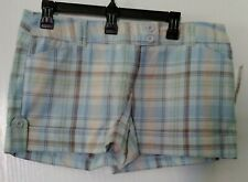 OUTLOOKS BLUE & BROWN PLAID SHORTS *NWT* LADIES SIZE 13