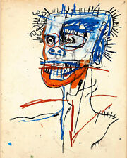 Art Poster Jean Michel Basquiat Head of a Madman Popart  Art Print