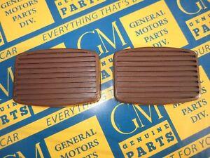 1932-1955 Buick Oldsmobile Pontiac Brake Clutch Pedal Pads. Brown Pair