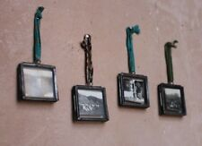 4 Tiny Nkuku Zinc Picture Photo Frames Mini Grey Kiko Clear Glass Double Sided