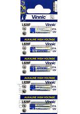 5x A27 12v batteries Alkaline L828F MN27 27A L828  battery by Vinnic  0% Hg