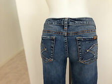 Silver Lola Womens Size 30 / 31 BootCut Jeans Pants Thick Stitch ~ USED