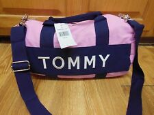 NWT TOMMY HILFIGER PINK DUFFEL GYM SCHOOL TRIP TRAVEL SHOULDER BAG - Medium
