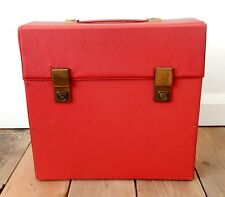 Vintage Retro Record LP Storage Carry Case Box Red Vinyl Album 12""