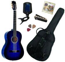 Pack Guitare Classique 4/4 (Adulte) Gaucher Avec 5 Accessoires (bleu)
