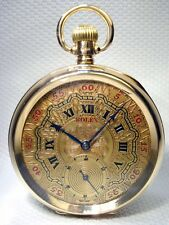 ROLEX ANTIQUE SWISS POCKET WATCH –VERY MASSIVE SOLID GOLD 9ct gold 102 years old