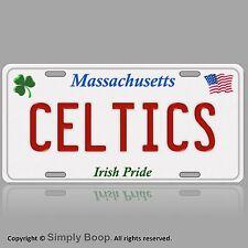 Massachusetts Boston Celtics Aluminum Vanity License Plate Tag Irish Pride! New